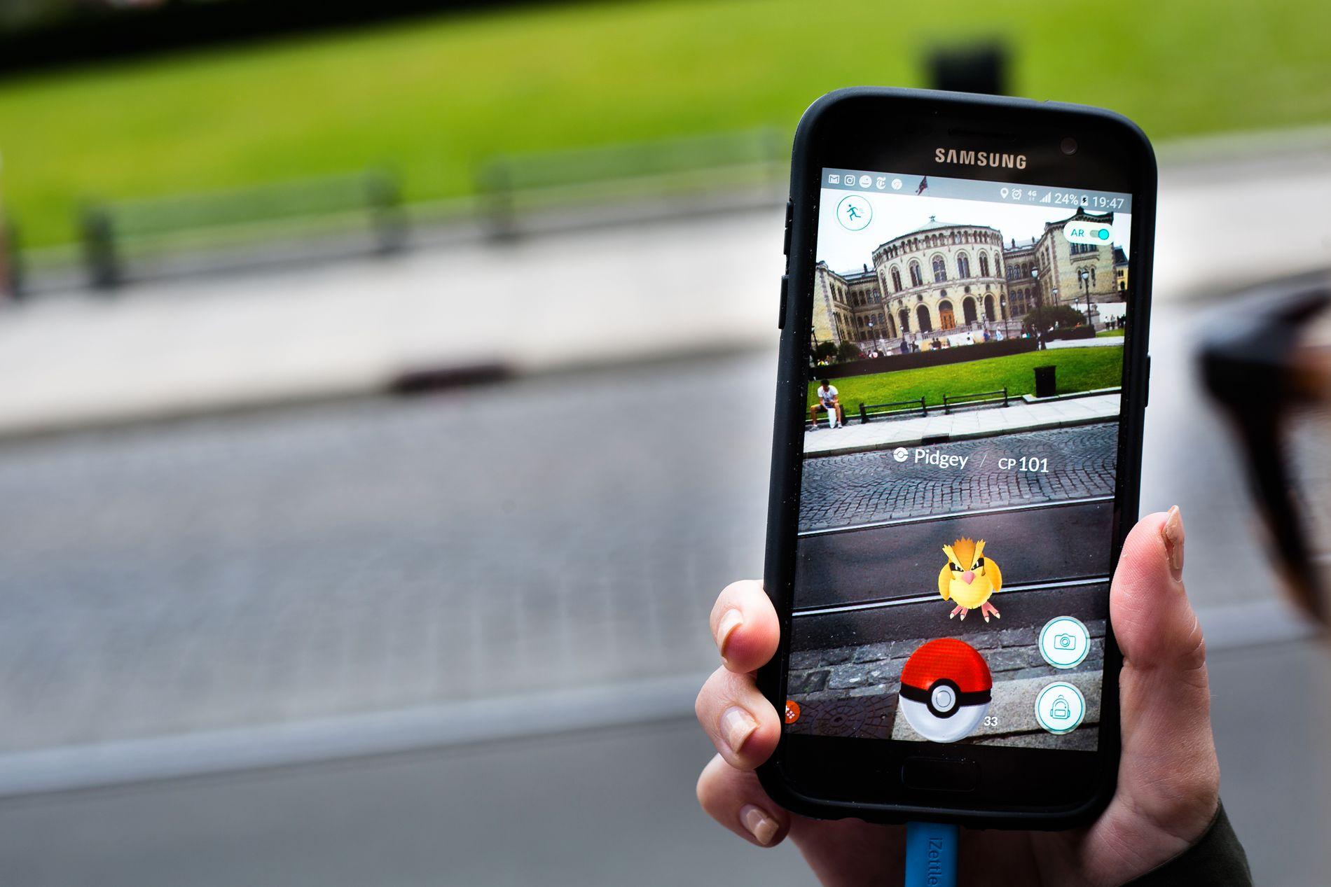 INSPIRERER: Spillet Pokemon Go gjør folk oppmerksomme på nye navn til barna.
