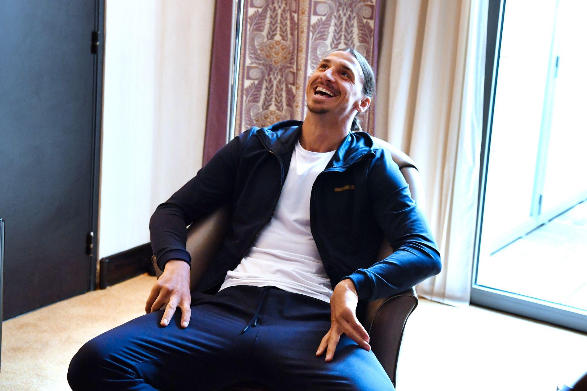 HAR SÅ DET MONNER: Zlatan Ibrahimović (35) har 1,3 milliarder grunner til å smile bredt.
