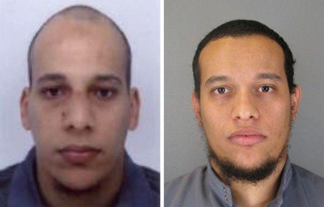 TERRORSIKTET: Franske spesialstyrker jakter på Said Kouachi (t.v.) og Cherif Kouachi.