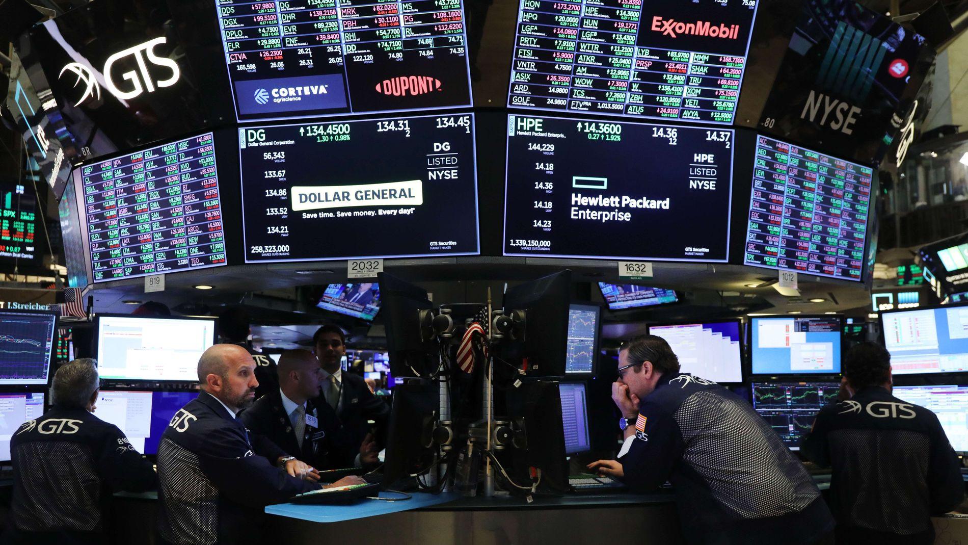 FRA MASKINER TIL MENNESKER: De fire norske matematikerne i Intelligent Trading tapte 206 millioner i fjor. Her fra New York Stock Exchange.