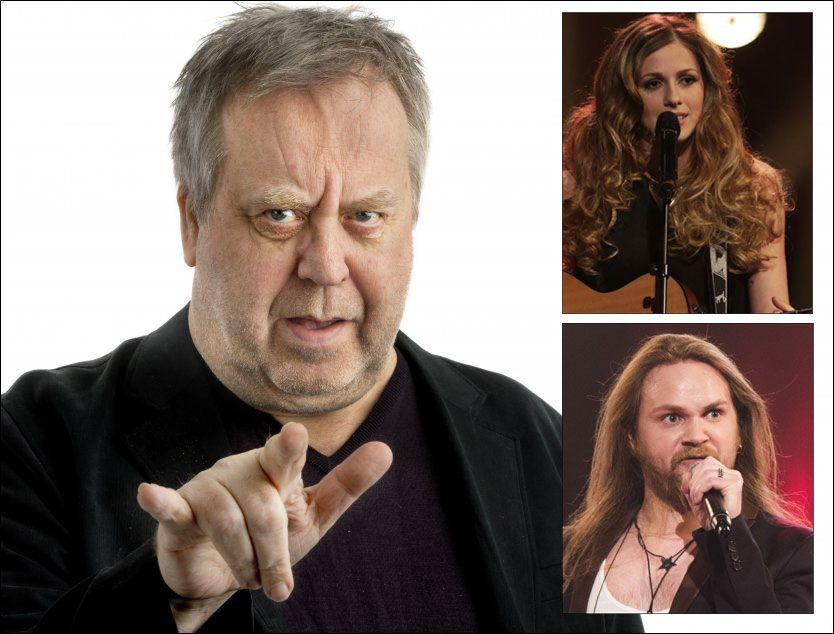 I ILDEN: VGs «Idol»-ekspert er klar i sin tale over Siri Vølstad Jensen og Eirik Søfteland. Foto: HELGE MIKALSEN og FRODE HANSEN Foto: