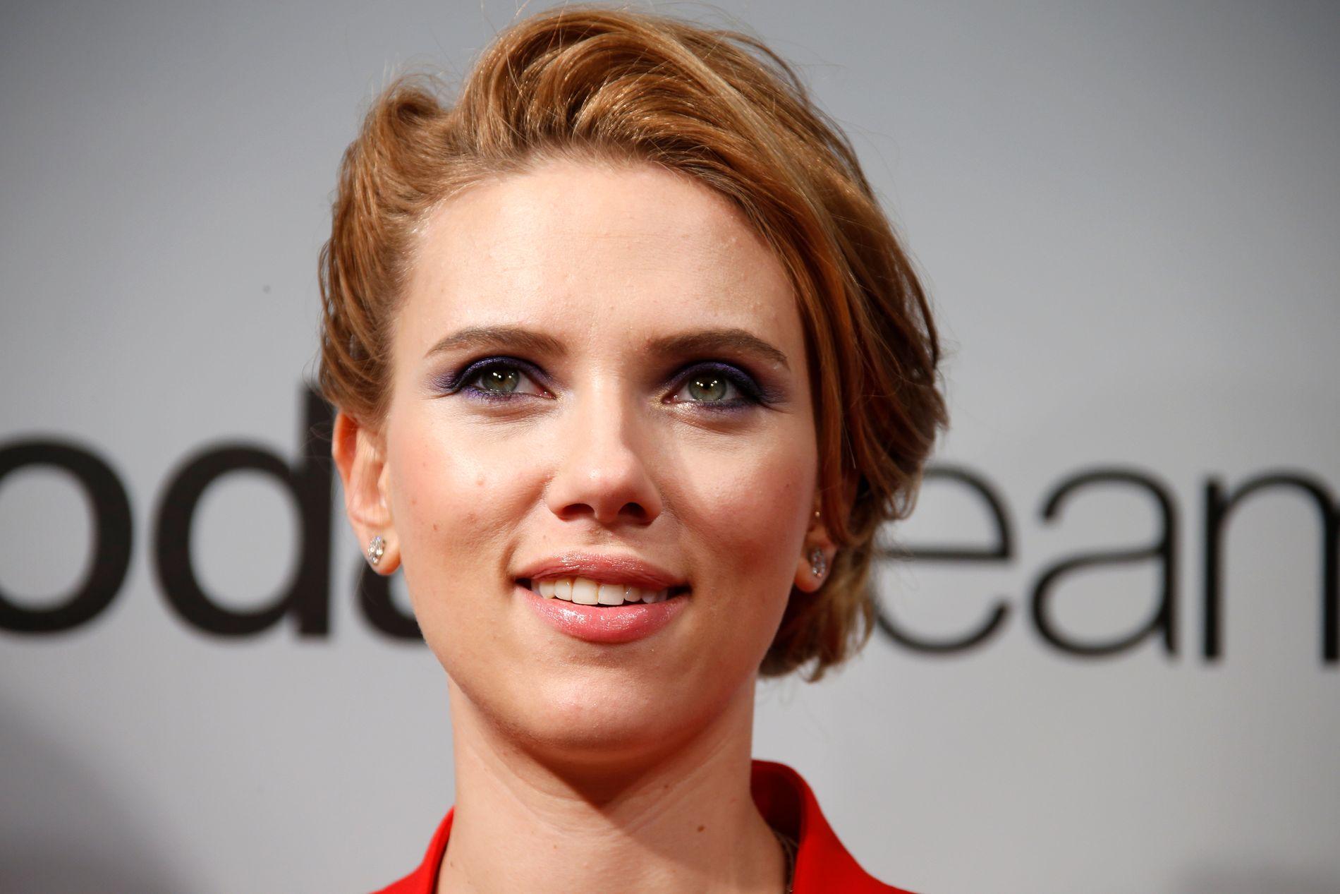 TREKKER SEG: Scarlett Johansson blir ikke å se i «Rub & Tug». Her fra den franske premieren av «Captain America: The Winter Soldier» i 2014.