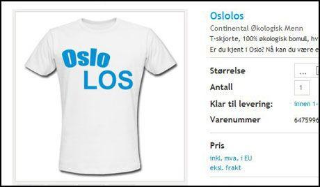 NRK stoppet «Oslolosen» T skjorter