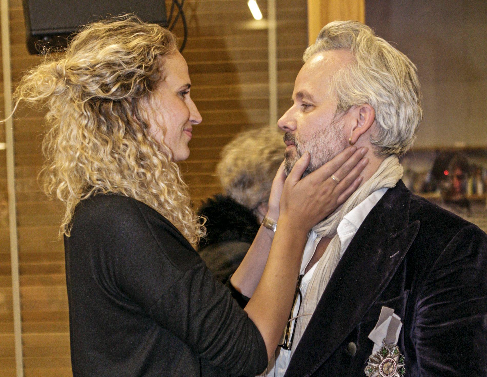 PAR: Ebba Rysst Heilmann og Ari Behn på boktreff i Oslo i februar.