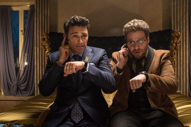 BLE STOPPET: Filmen «The Interview», med James Franco og Seth Rogen i hovedrollene, ble stoppet etter truslene fra hackergruppen. Senere snudde Sony, og filmen er nå tilgjengelig på internett.