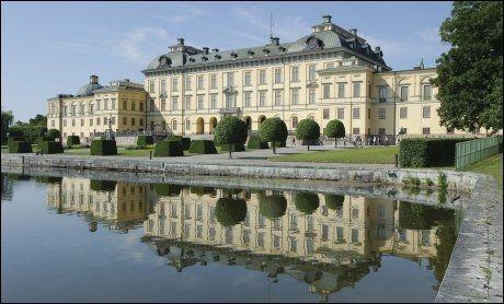 KLART: Drottningholms slott står nå klart til dagens bryllup. Foto: Kungahuset.se
