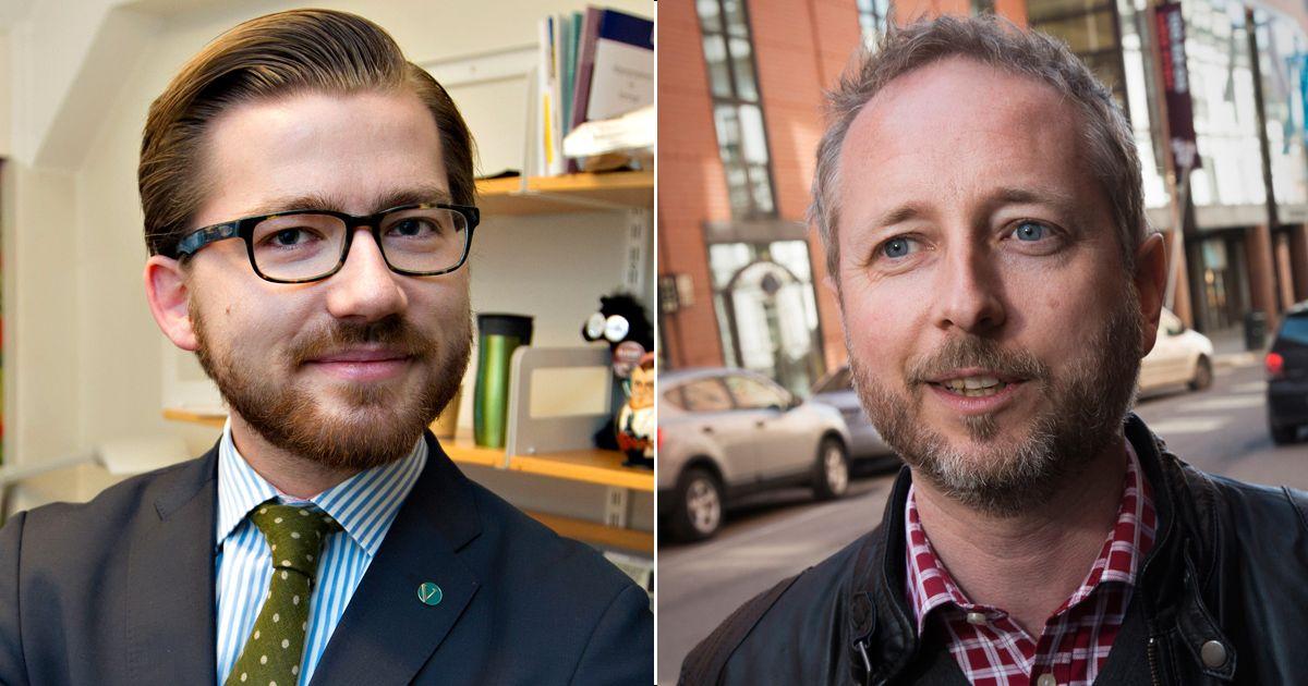 KRITISKE: Verken Sveinung Rotevatn (V) eller Bård Vegar Solhjell (SV) er fornøyd med forslaget om digitalt grenseforsvar.