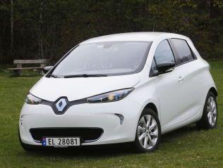 SNERTEN: Renault Zoe er en småbil med fine kjøreegensskaper. FOTO: JAN PETTER LYNAU/VG