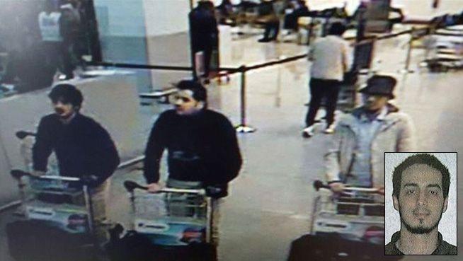 PÅ FRIFOT: Najim Laachraoui (innfelt) skal være en av terroristene som står bak angrepet på Brussel.