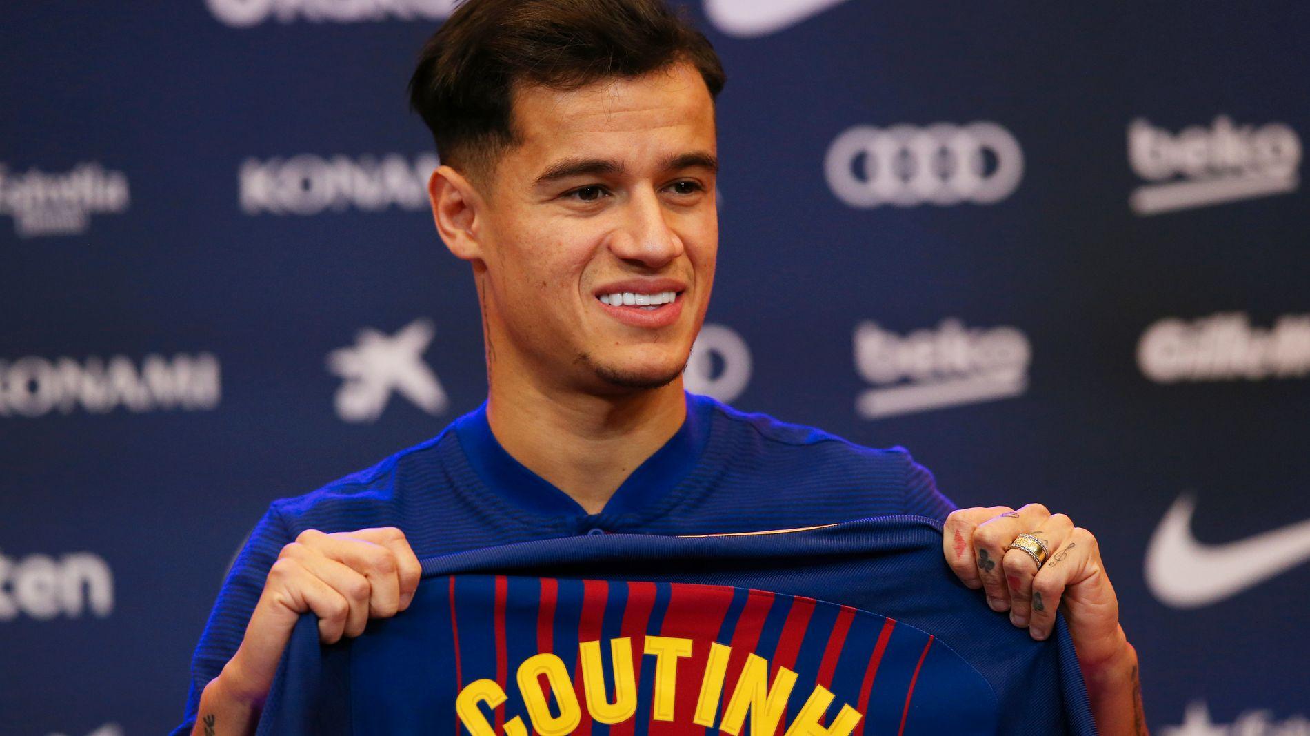 MÅ PÅ BANEN: Philippe Coutinho var egentlig tenkt å få sin Barcelona-debut til helgen, men er kanskje klar til torsdagens kamp mot Espanyol.