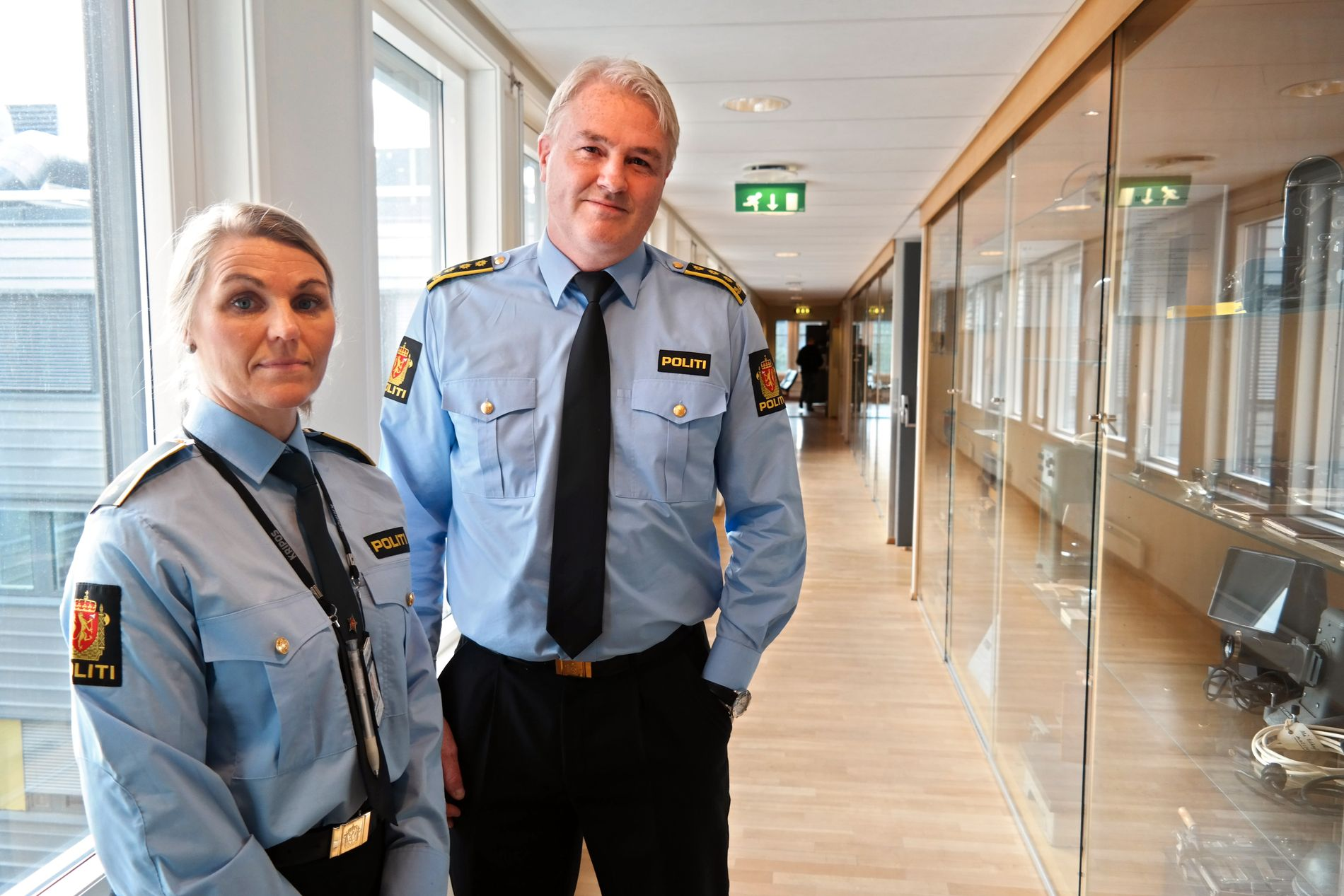 FRYKTER FLERE VOLDTEKTER: Eivind Borge, og  Ann Kristin Grosberghaugen ved Kripos ber russen om å ta vare på hverandre, for å unngå nye voldtekter.