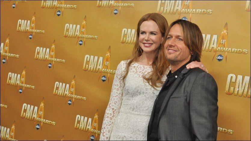 TAKKER KONA: Keith Urban gir Nicole Kidman æren for at han er rusfri. Foto: Pa Photos
