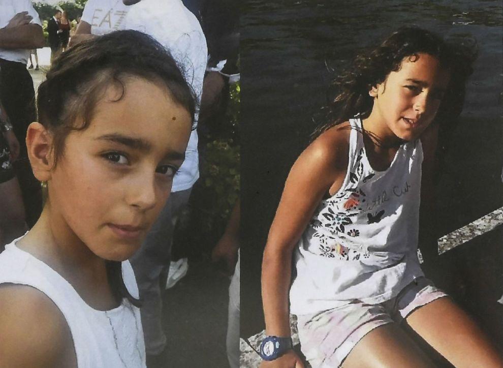VAR SAVNET: Fransk politi delte en etterlysning av 9-åringen Maëlys med bilder av henne og opplysninger om hennes vekt og høyde.