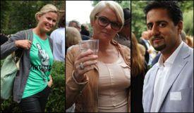 FASTE GJESTER: Vendela Kirsebom, Mia Gundersen og Abid Raja er faste hagefestgjester. Foto: CATHERINE GONSHOLT IGHANIAN