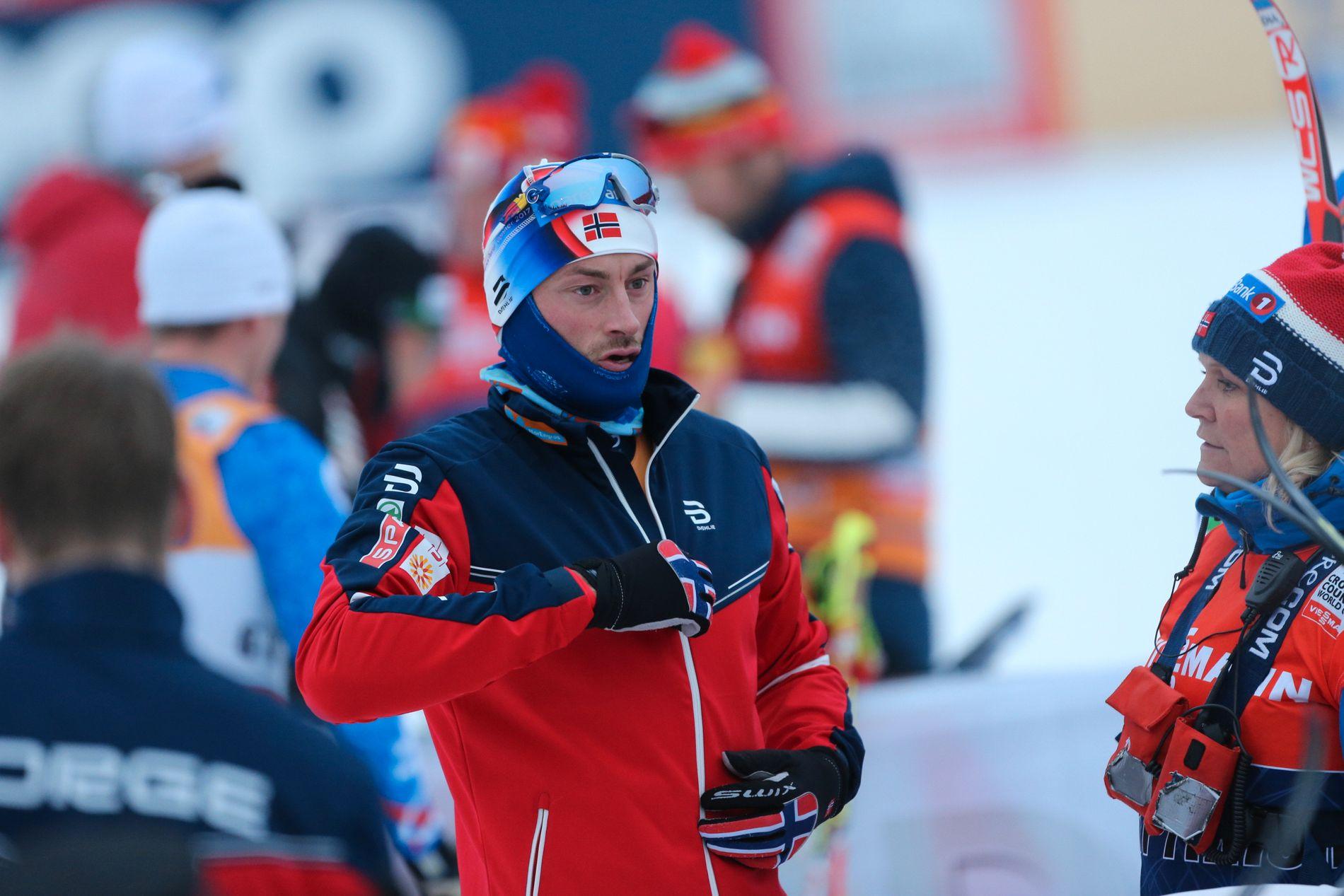 UTSLÅTT: Petter Northug, her fra sprintprologen på Lillehammer lørdag.