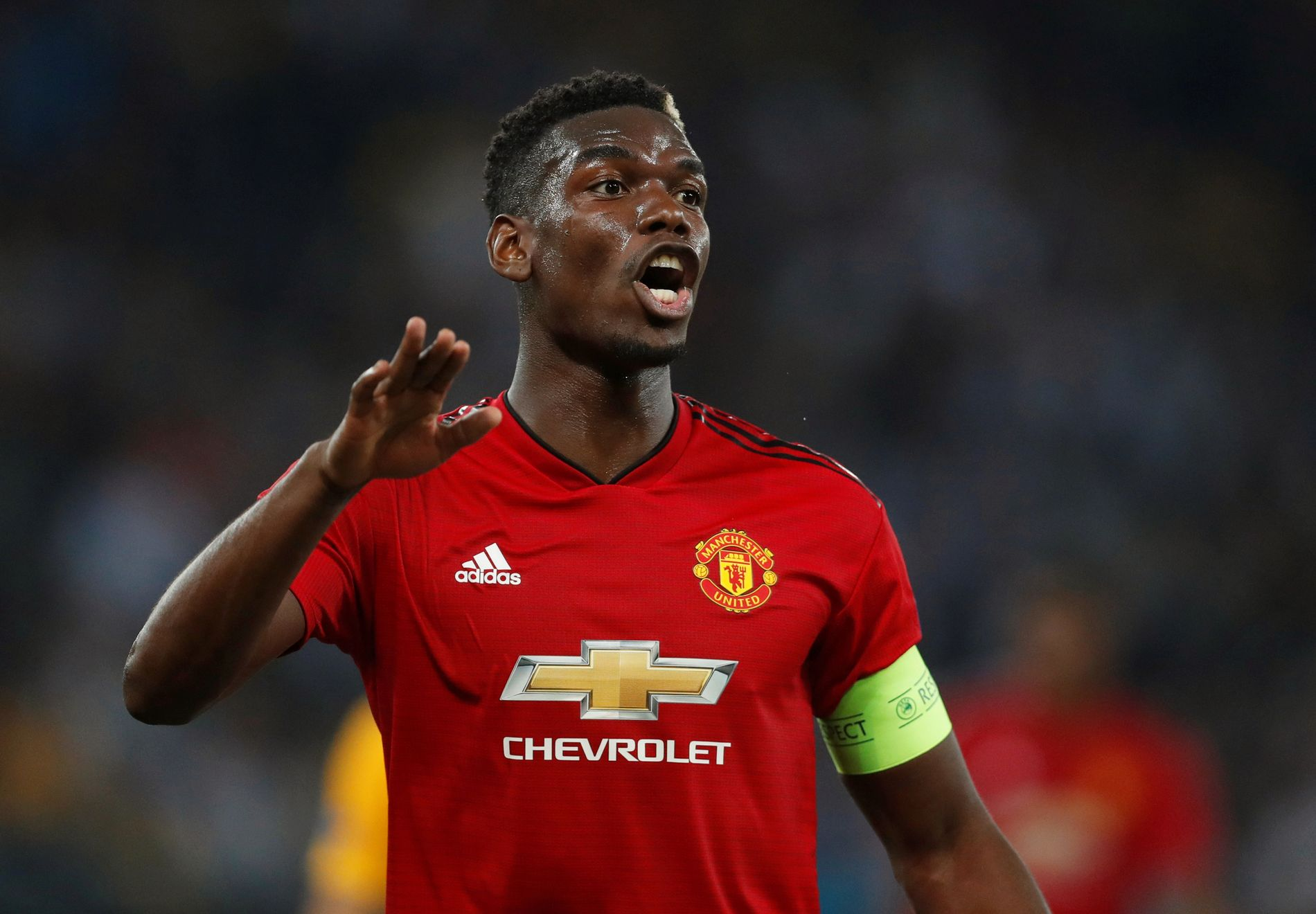 SCORET TO: Manchester United-kaptein Paul Pogba åpnet Champions League-sesongen med to mål mot Young Boys.