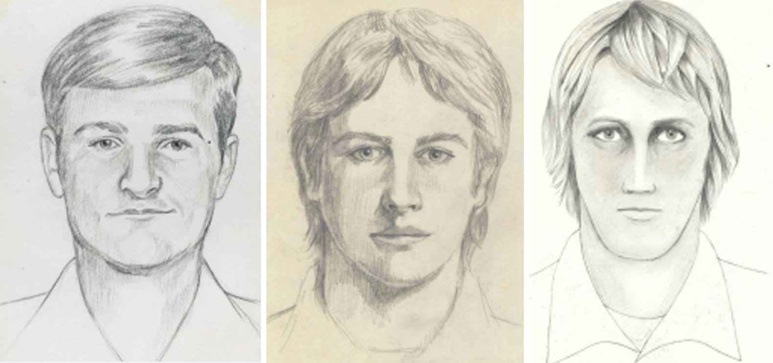 ETTERLYST: Dette er etterlysningsplakater av gjerningsmannen som herjet i California på 70- og 80-tallet.