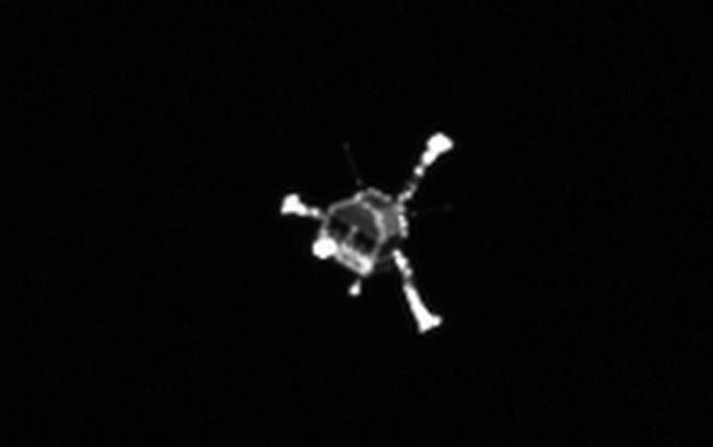 Dette bildet av romsonden Philae ble tatt i november, i forbindelse med landingen på kometen 67P/Churyumov-Gerasimenko.