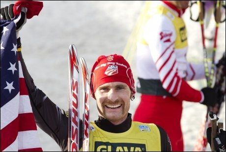 VANT: Bryan Fletcher tok sin første verdenscupseier i kombinert i Holmenkollen lørdag. Foto: Scanpix