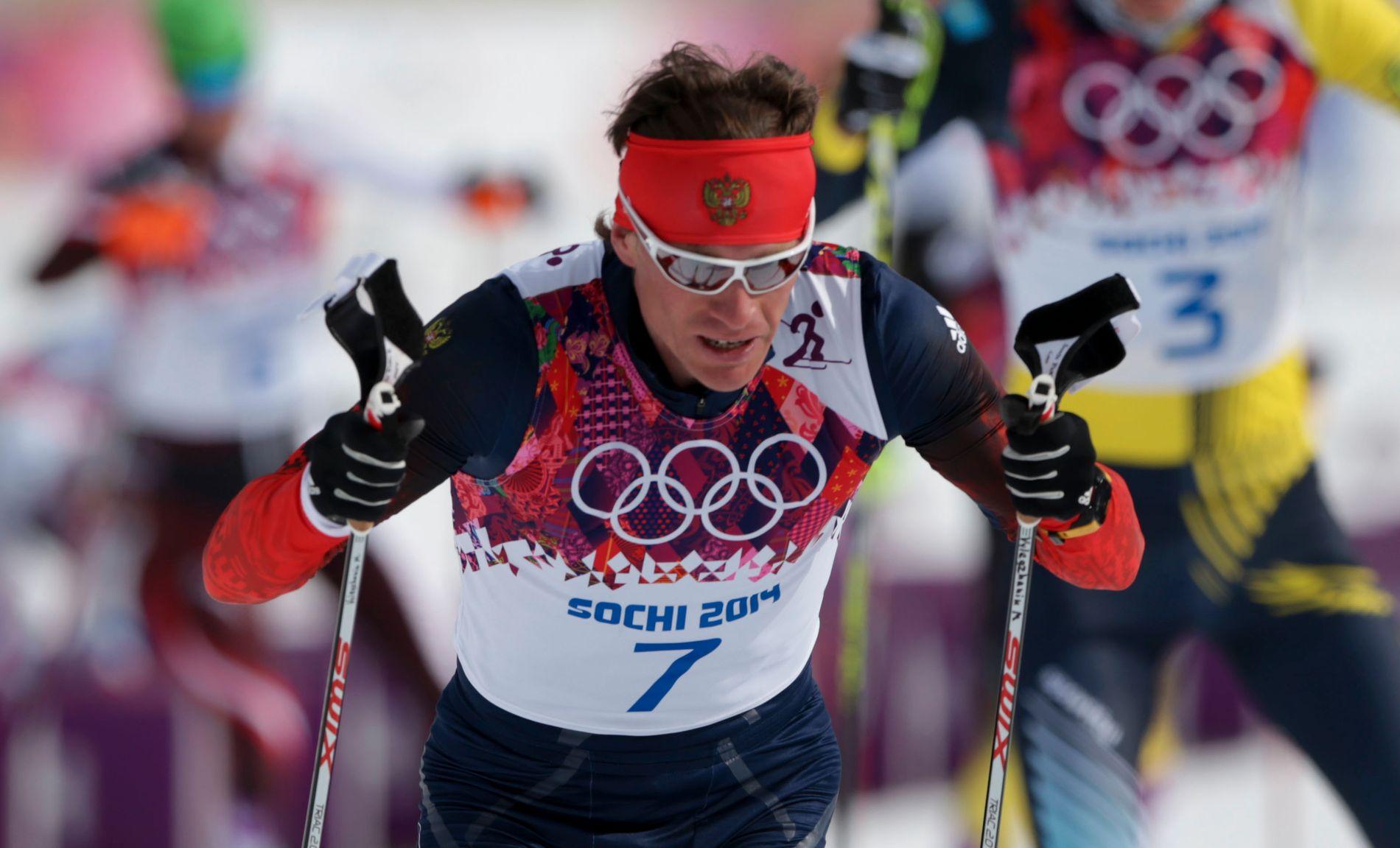 UTESTENGT: Maksim Vylegzhanin tok tre sølvmedaljer under OL i 2014. Nå strykes resultatene hans fra mesterskapet i Sotsji.