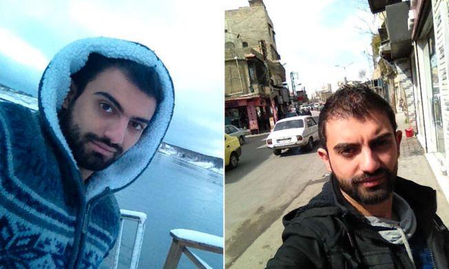 SELFIE FØR/ETTER: 24 år gamle Wadie Rizq fra Syria fikk se Saltstraumen i Bodø da han var asylsøker i Norge før jul. Nå er han ufrivillig tilbake i det krisgherjede hjemlandet.