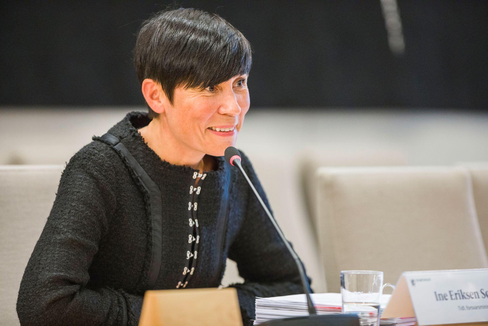 INVITASJON: Utenriksminister Ine Marie Søreide holdt fredag foredrag på et arrangement i regi av NUPI. Bildet er tatt ved en tidligere anledning.