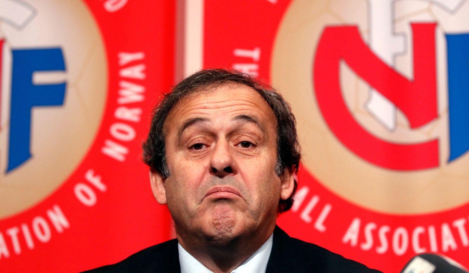 Michel Platini på besøk i Oslo da han var UEFA-president.