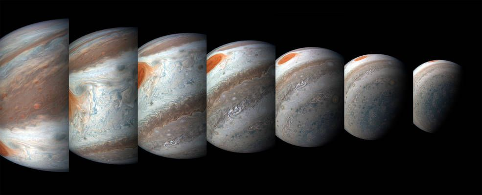 JUPITER: – Disse bildene viser hvor stor dynamikk og bevegelse det er i Jupiters atmosfære, sier Wahl om bildene fra NASAs romoppdrag Juno som nå florerer på nett.