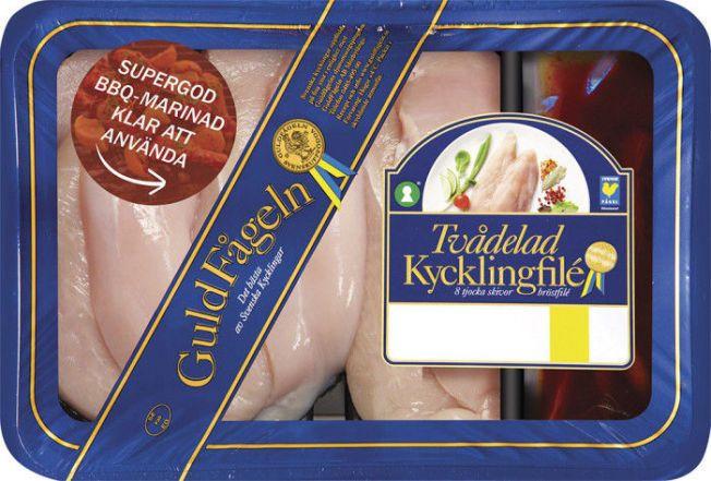 TILBAKEKALLES: Kycklingfilé er blant produktene som det kan finnes metallbiter i.