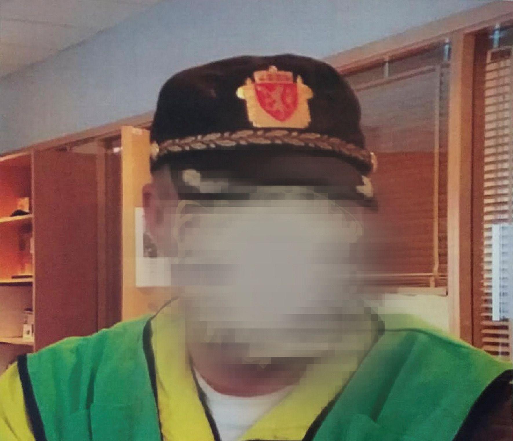 SPØK BLE ALVOR: Mannen publiserte dette bildet, uten sladd, på Facebook som profilbilde. Det likte ikke politiet, og domstolene har funnet det ulovlig.