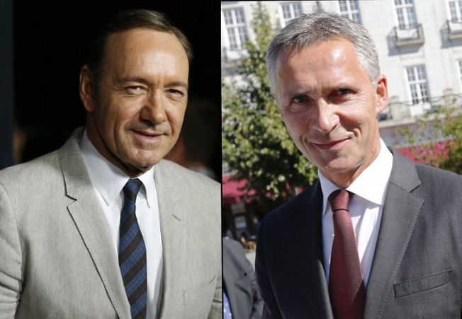 "STOR FAN: Jens Stoltenberg er stor fan av det politiske maktdramaet ""House og Cards"". Kevin Spacey (til venstre) spiller hovedrollen."