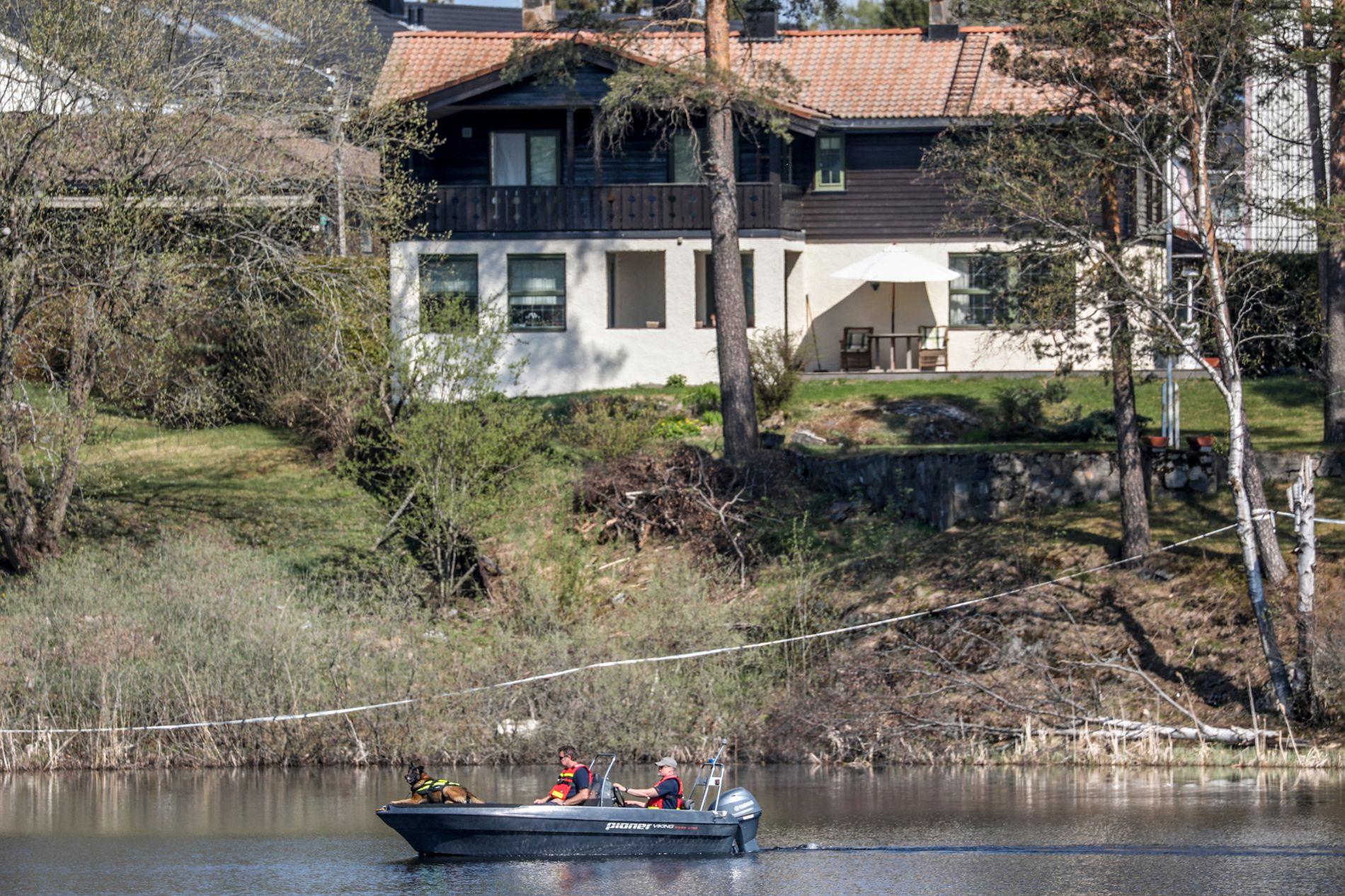 BLE FUNNET HER: Trusselbrevet ble funnet i ekteparet Hagens bolig i Sloraveien på Lørenskog samme dag som Anne-Elisabeth forsvant.
