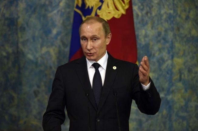 I KRIG: Russlands Vladimir Putin har de siste månedene aksjonert i Syria.