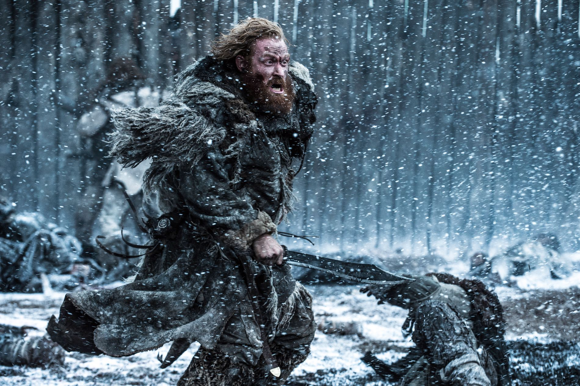 NORSK INNSLAG: Tormund Giantsbane (Kristofer Hivju) i aksjon i slaget mot whitewalkers i sesong 5.