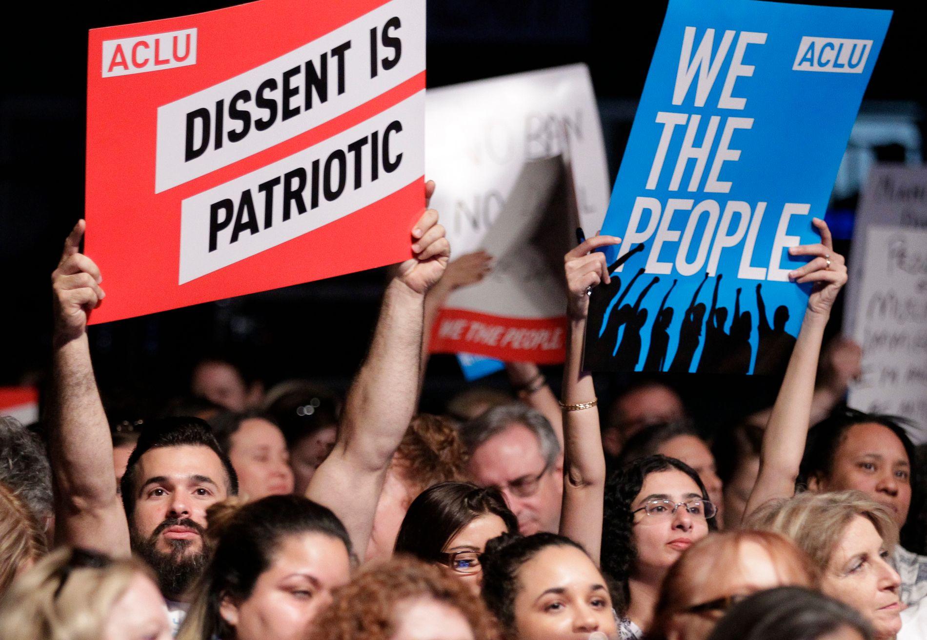 KANDIDAT: American Civil Liberties Union (ACLU), Den amerikanske borgerrettsunionen, er blant bookmakernes favoritter.