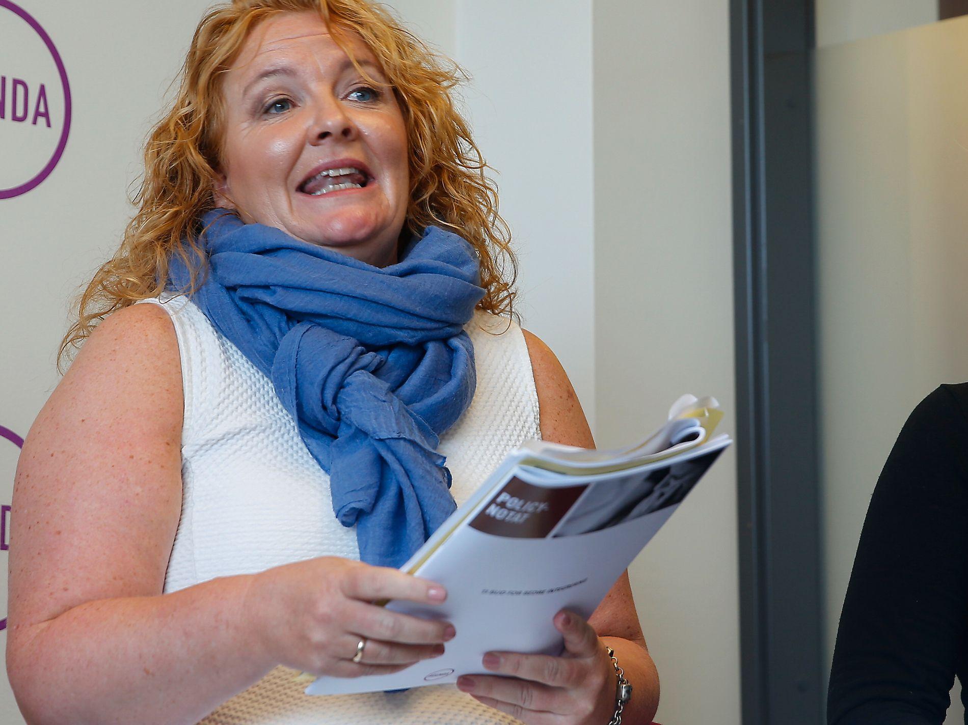 UENIG: Nestleder i KrF, Dagrun Eriksen, er sterkt imot Høyre-toppenes forslag om fjerning av barnetrygd til fordel for gratis barnehage og SFO. Arkivfoto: TERJE PEDERSEN/SCANPIX