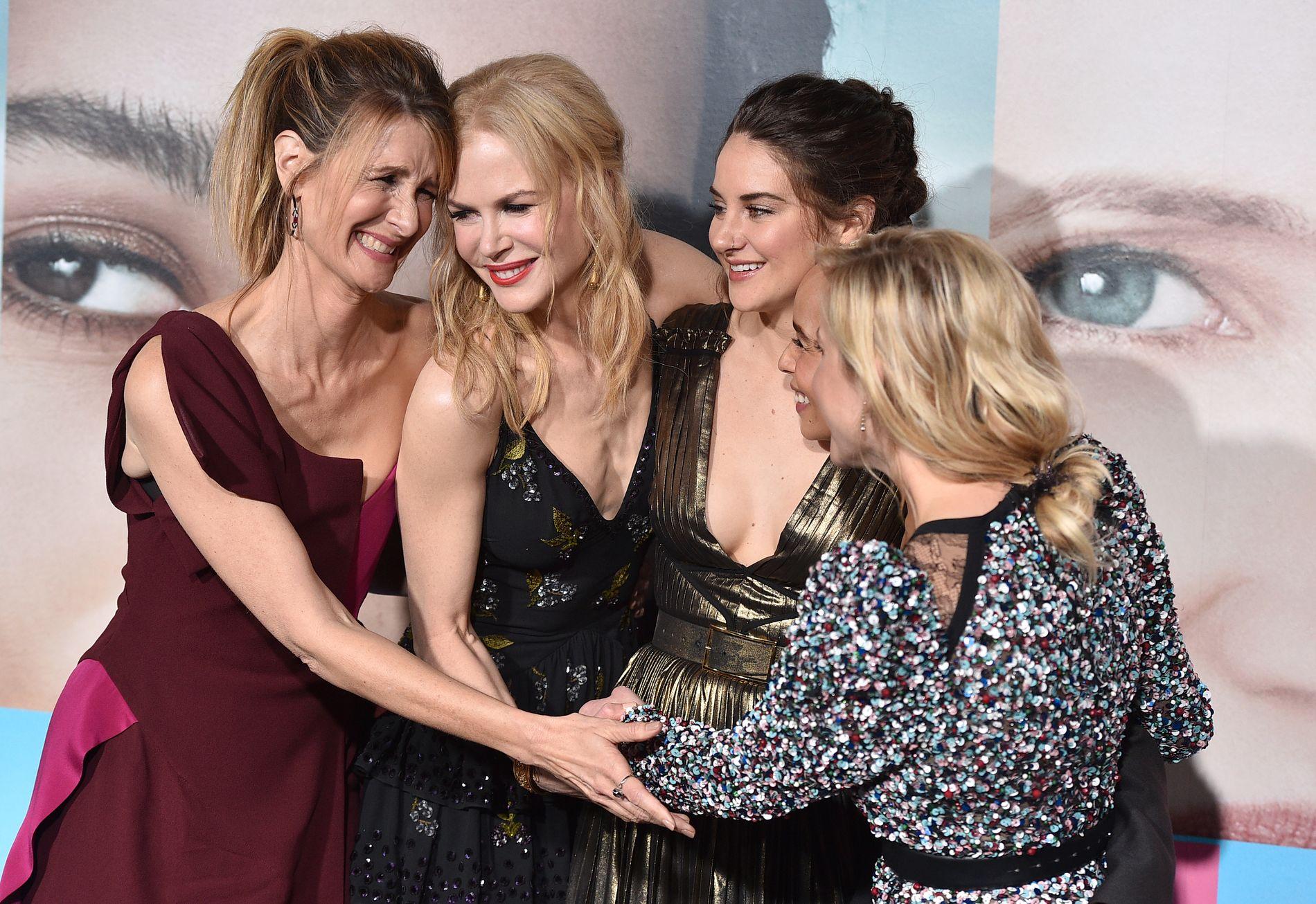 STJERNELAG: Lauren Dern, Nicole Kidman, Shailene Woodley, Zoe Kravitz og Reese Witherspoon spiller i den kritikerroste serien.
