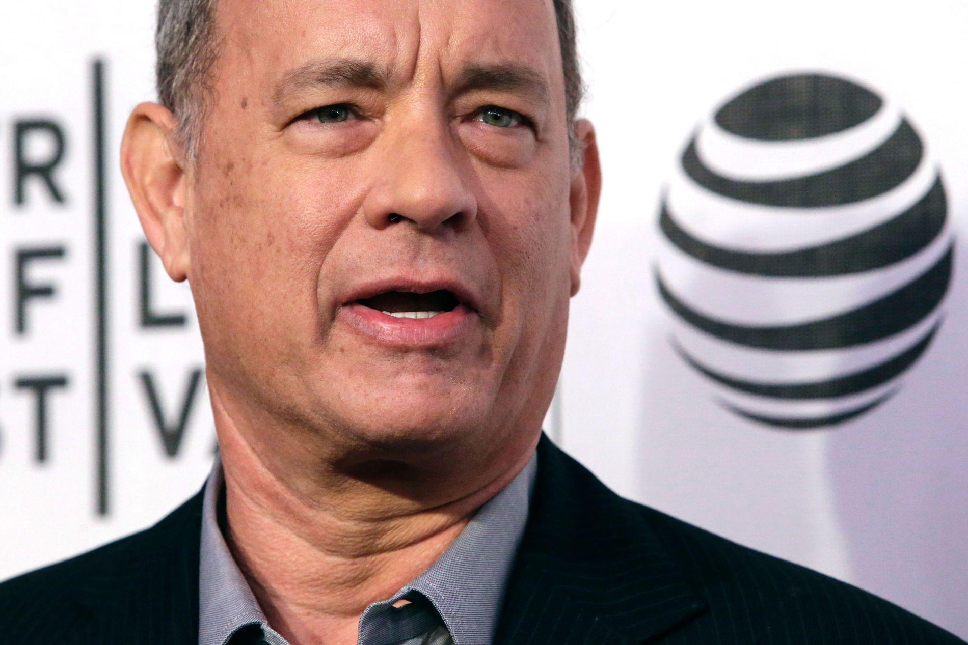 LA UT UNGDOMSBILDE AV MOREN: Skuespiller Tom Hanks.