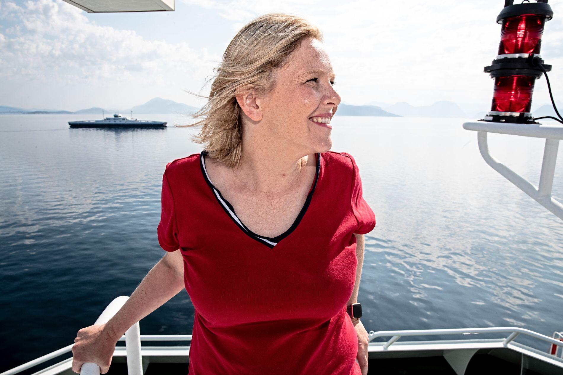 STATSRÅD: Sylvi Listhaug (Frp) er eldre- og folkehelseminister. Her fra en ferjetur på Vestlandet.