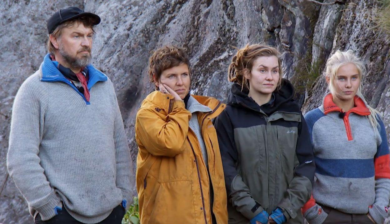 KONKURRENTER: Halvor, Eunike, Camilla og Amalie er de fire gjenværende i «Farmen».