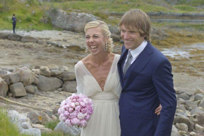 NYGIFT: Langrennsparet Kirstin Størmer Steira og Devon Kershaw giftet seg i Lofoten lørdag.