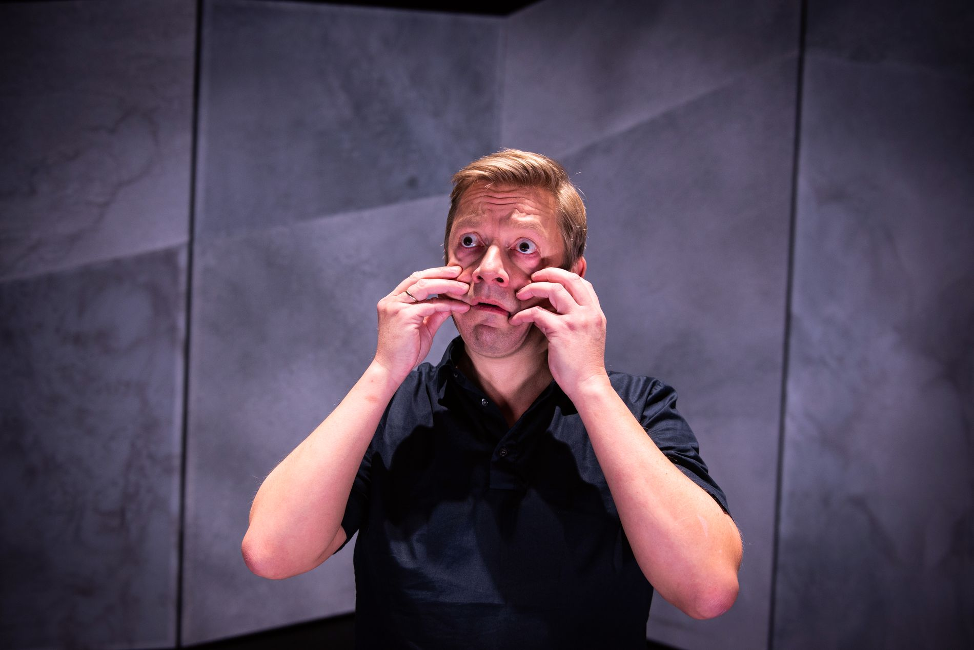 ANGSTENS ANSIKT: Bjarte Tjøstheim leverer en intim, varm og modig forestilling om angst