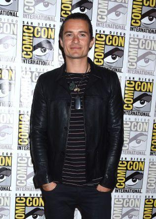 I TRØBBEL: Orlando Bloom angrep Justin Bieber på restaurant på Ibiza. Her fra Comic- Con i San Diego.