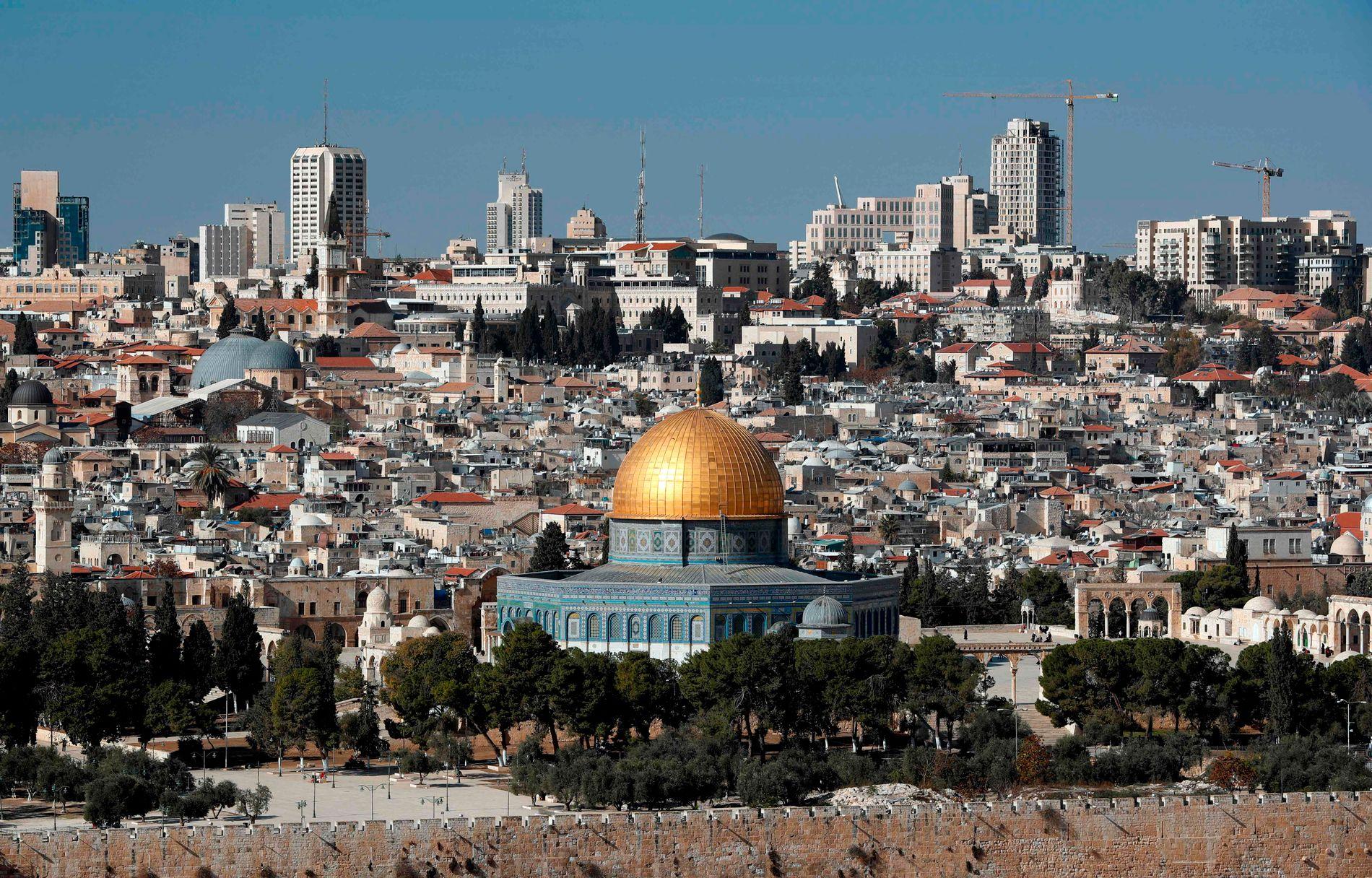 DELT BY: Både palestinerne og israelerne anser Jerusalem som sin hovedstad.