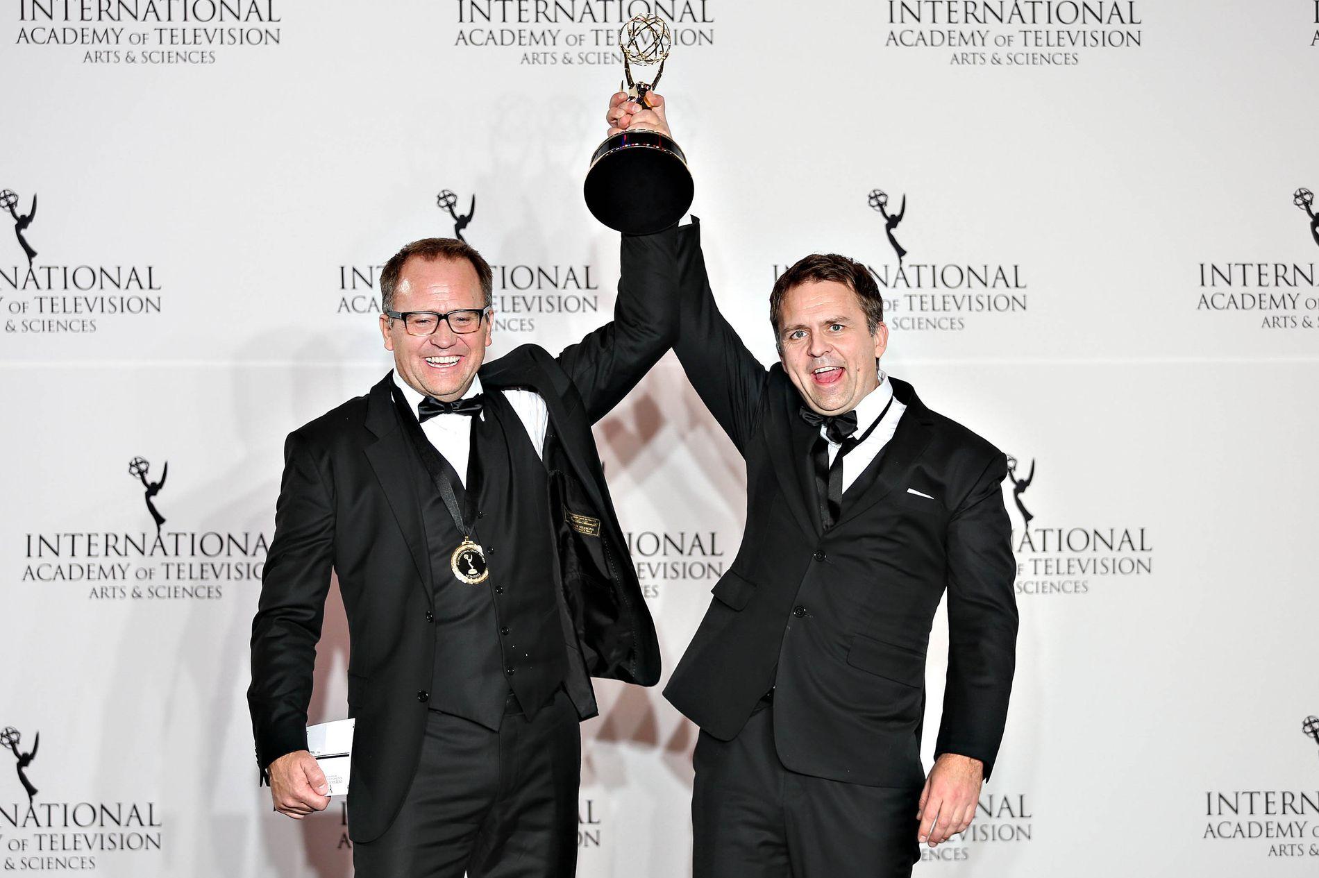 TILGJENGELIG: Brødreparet Vegard og Gjermund Stenberg Eriksen skapte «Mammon» som fikk den gjeve Emmyprisen for drama 21. november.