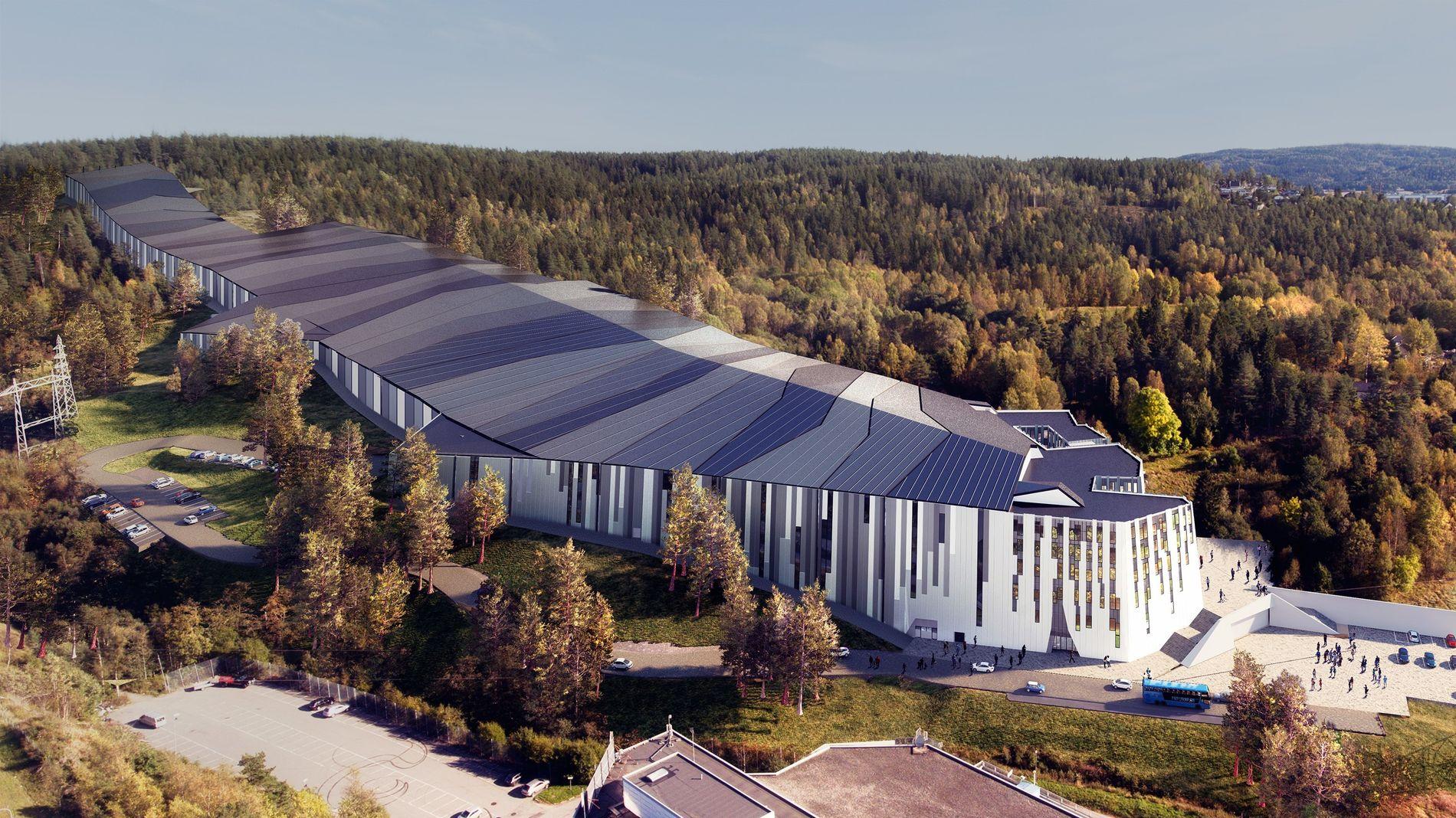 STORT OG DYRT: Skihallen skal bli på 40.000 kvadratmeter og har en total kostnadsramme på 3,5 milliarder kroner.