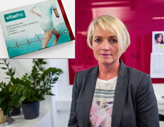 MÅ I RETTEN: Daglig leder Siv-Katrin Ramskjell i selskapet som står bak kosttilskuddet Vitaepro – et av Nordens mest brukte kosttilskudd. Om få uker må selskapet møte i retten i Sverige, anklaget for villedende markedsføring.