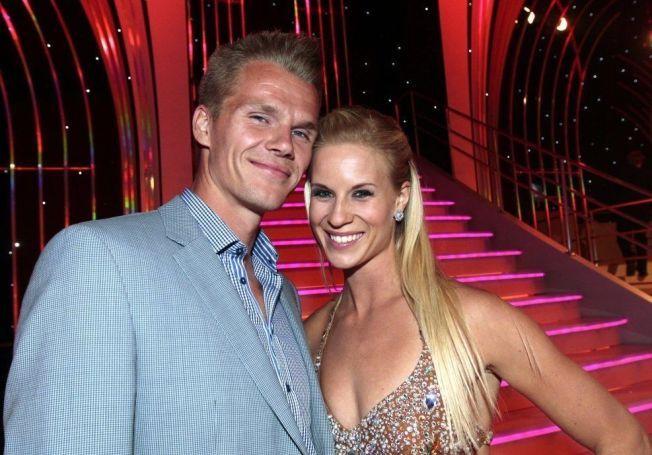 BLIR FORELDRE: Danske Morten Jensen (t.v.) og Cathrine Larsåsen avbildet da Larsåsen deltok i TV 2-programmet «Skal vi danse» i 2012.