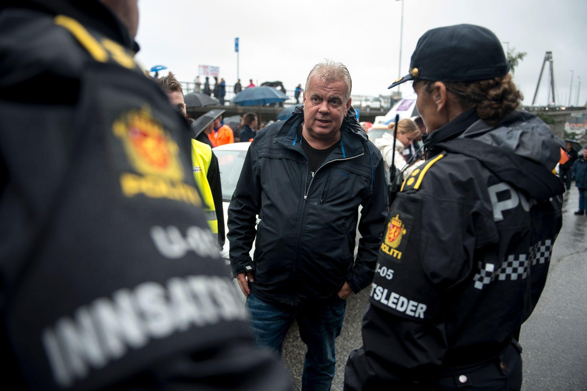OPPRØR: Frp-politiker Leif Arne Moi Nilsen var initiativtager til onsdagens demonstrasjon i Stavanger.