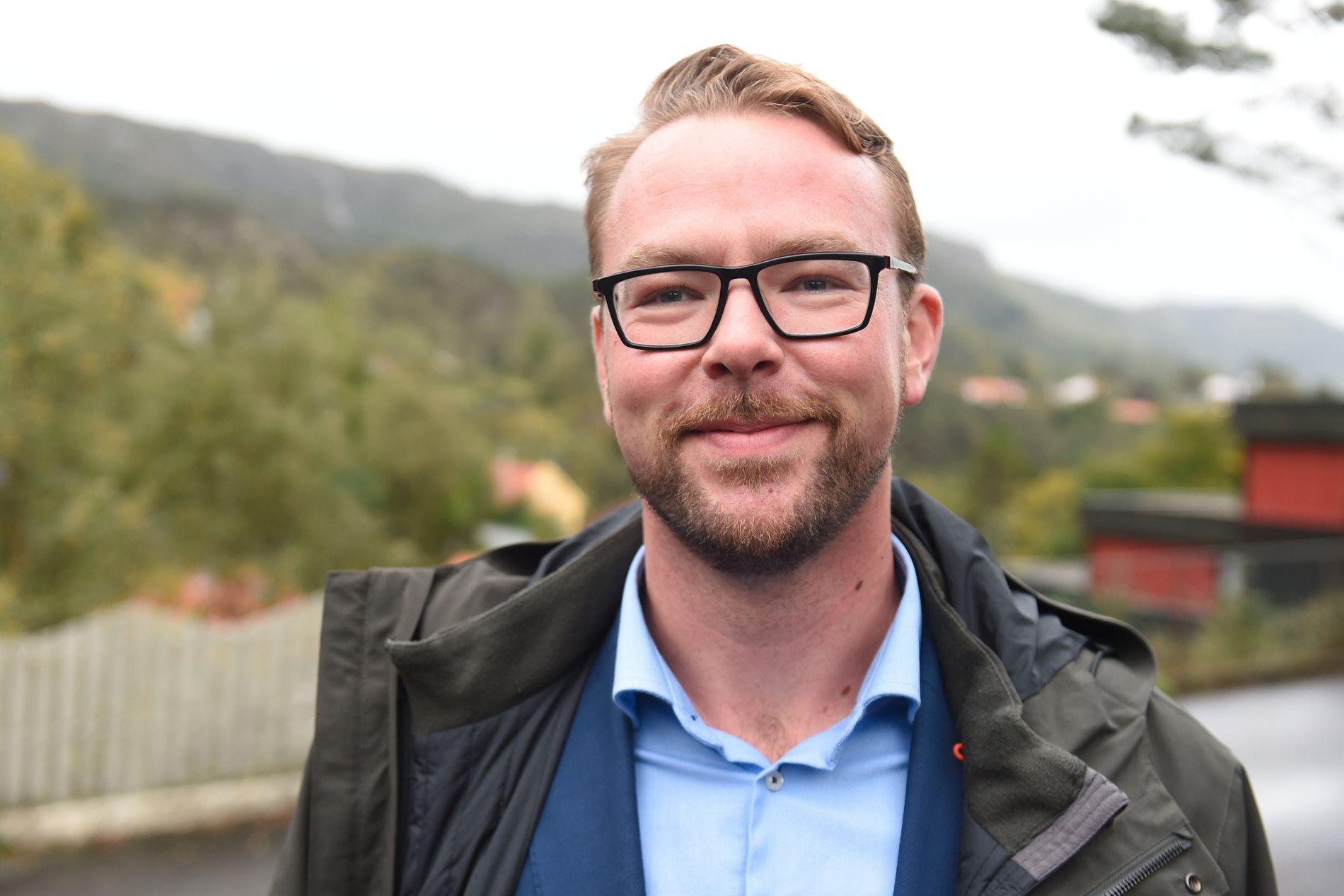 HØYRE-TOPP: Harald Victor Hove, Bergen Høyres byrådslederkandidat til kommunevalget.